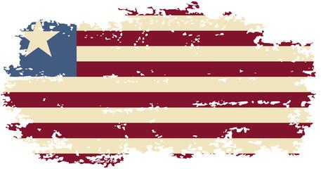 Liberian grunge flag. Vector illustration.