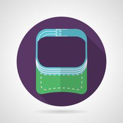 Flat round vector icon for sport visor