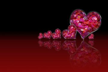 Heart Pink Sequin