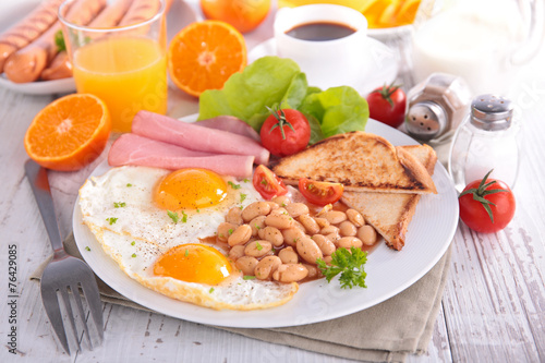 canvas print picture english breakfast