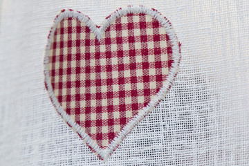 valentine day heart on curtain