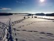canvas print picture - Ausflug in den Schnee