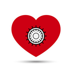 Vector Love Heart Safe Security Concept