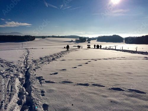 canvas print picture Ausflug in den Schnee