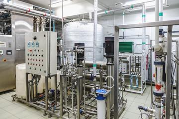 Water conditioning or destilation room