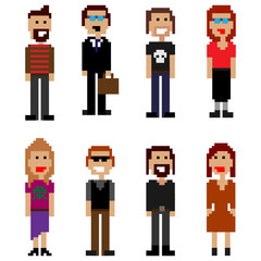 pixel style people