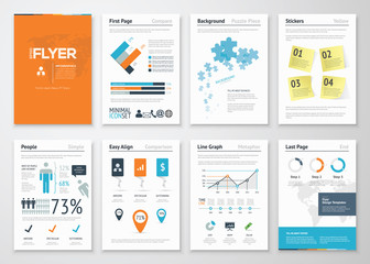 Infographic corporate elements and vector design illustrations