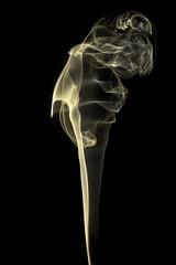 Yellow smoke abstract