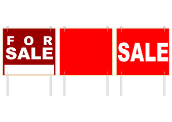 Sale signs.