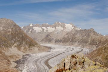 Bettmeralp, Dorf, Walliser Berge, Alpen, Gletscher, Schweiz
