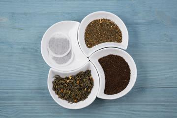 Various types of tea