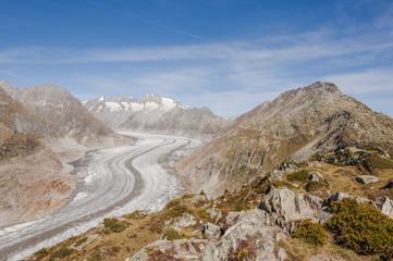 Bettmeralp, Dorf, Bettmerhorn, Alpen, Gletscher, Schweiz