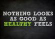 HEALTHY FEELS blackboard concept