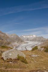 Riederalp, Dorf, Moosfluh, Gletscher, Aletsch, Alpen, Schweiz