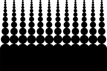 vector Background - vertical black circle