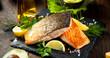 Lachs filet mit kräuter  - 76431819