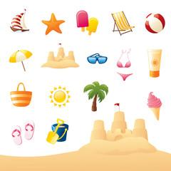 Summery Beach Icons