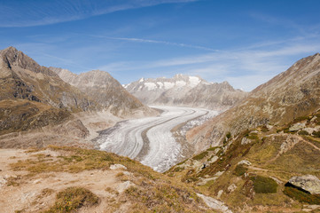 Bettmeralp, Walliser Alpen, Alpen, Aletsch, Gletscher, Schweiz
