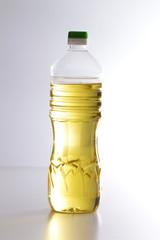 sunflower oil on the white background