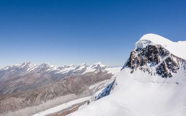 Zermatt, Dorf, Breithorn, Alpen, Walliser Berge, Schweiz
