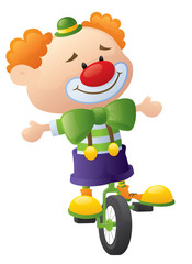 Cycling Clown