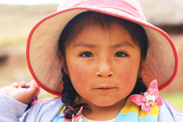 Little aymara child