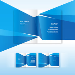 brocure design template - booklet abstract triangular background