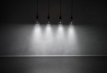 Vintage Wall and Light bulbs