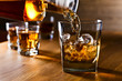 Leinwanddruck Bild - whiskey and natural ice