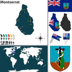 Map of Montserrat