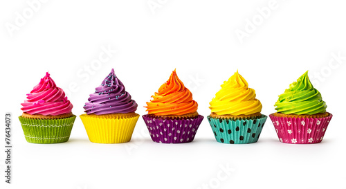 Colorful cupcakes - 76434073