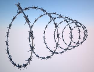 Filo spinato recinzione protezione proprietà