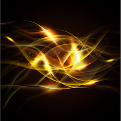 fire isolate on the black background and space, Vector