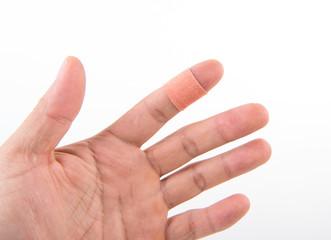bandage on the finger