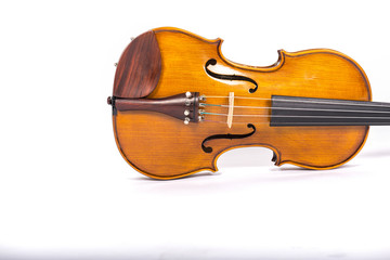 violin horizontal isolated on white