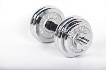 dumbbell weight,Chromed fitness exercise equipment on Isolated