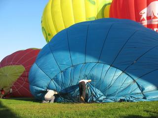 Перед началом путешествия на воздушном шаре