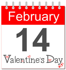 Valentine's Day - Calendar english