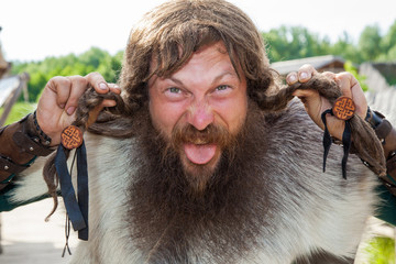 Crazy viking face