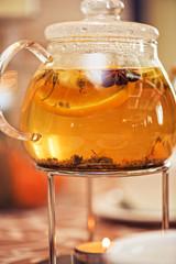 teapot of herbal tea
