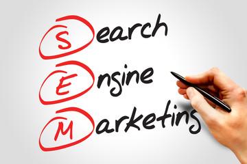 SEM Search Engine Marketing, business concept acronym