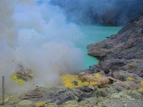 Foto op Plexiglas Indonesië Ijen Plateau