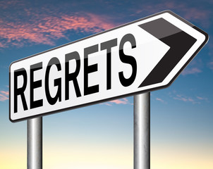 regrets sign