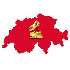 Schokohase und Schweiz