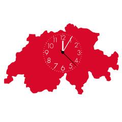 Schweiz und Uhr
