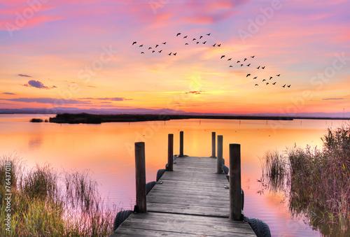 amaner en el lago rosa