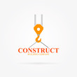 Vector crane logo for construction company - 76437257