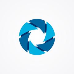 Logo of serrations arranged in a circle. Brutal logo