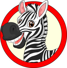 Cute cartoon zebra mascot