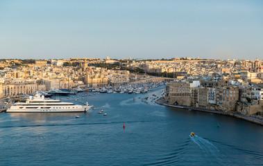 Vittoriosa yacht marina panorama